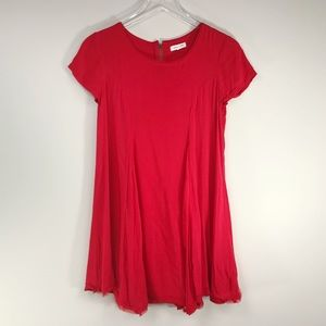 Silence and Noise | Red Tunic Top